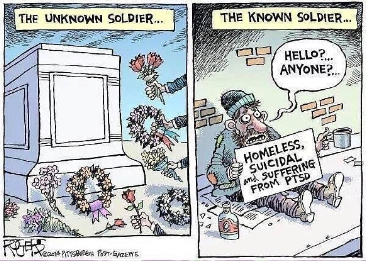 veterans mental health cartoon