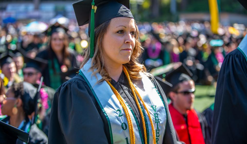 graduating HSU veteran